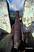 cannon at Fort Charlotte, Saint Vincent,  St. Vincent & the Grenadines, West Indies ( Eastern Caribbean )