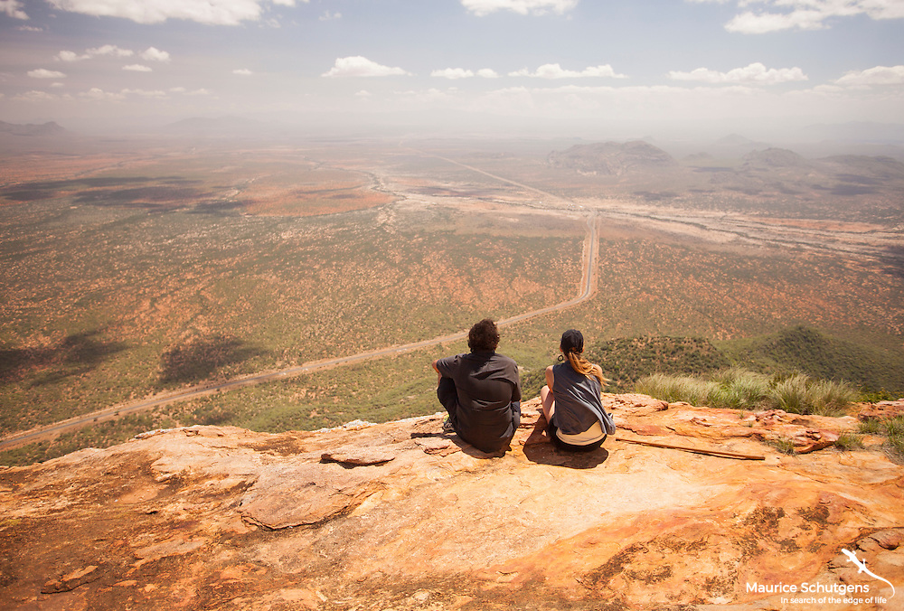 Sitting on the precipice of Mount Ololokwe, northern Kenya's most sacred mountain.
