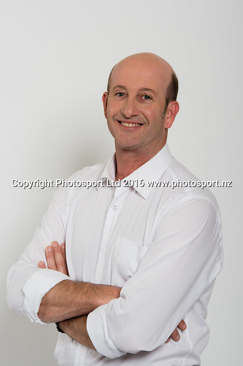 Chris Harris. Sky Presenters headshots. Christchurch, New Zealand, 16th November 2016. © Copyright Photo: John Davidson / www.photosport.nz