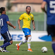 TOULON, FRANCE June 15.  Douglas Luiz #5 of Brazil during the Brazil U22 V Japan U22 Final match at the Tournoi Maurice Revello at Stade D'Honneur on June 15th 2019 in Toulon, Provence, France. (Photo by Tim Clayton/Corbis via Getty Images)