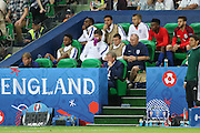 England Manager Roy Hodgson looks on during the Euro 2016 Group B match between Slovakia and England at Stade Geoffroy Guichard, Saint-Etienne, France on 20 June 2016. Photo by Phil Duncan.