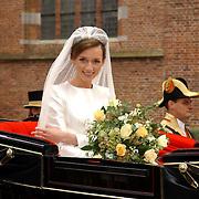 NLD/Naarden/20051022 - Huwelijk prins Floris en Aimee Söhngen, Aimee Söhngen