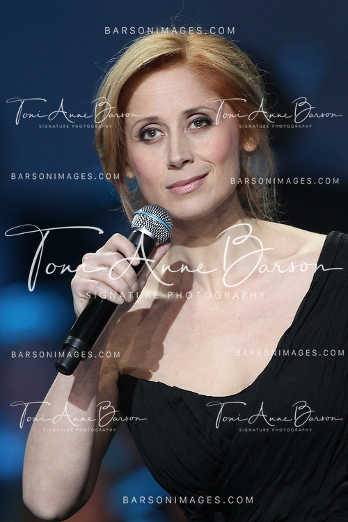 PARIS, FRANCE - FEBRUARY 08:  Lara Fabian attends Les Victoires de La Musique 2013 at Zenith de Paris on February 8, 2013 in Paris, France.  (Photo by Tony Barson/WireImage)
