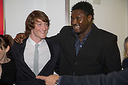 SAMUEL ROUKIN AND NONSO ANOZIE, Happy-Go-Lucky directed by Mike Leigh film premiere at the Odeon, Camden. Afterwards party at The Proud Gallery, Camden. London. 14 April 2008.  *** Local Caption *** -DO NOT ARCHIVE-© Copyright Photograph by Dafydd Jones. 248 Clapham Rd. London SW9 0PZ. Tel 0207 820 0771. www.dafjones.com.
