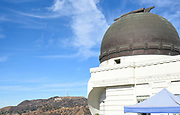 Griffith Park Observatory With Hollywood Sign In Background