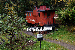 Caboose, White Pass and Yukon Route Railway, Denver, Alaska, United States of America