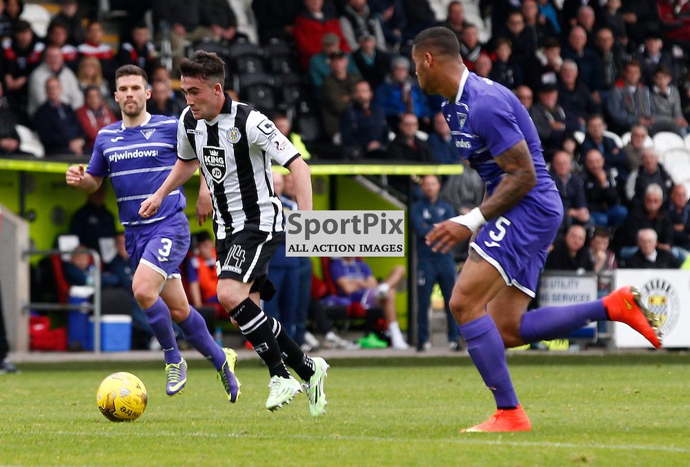 St.Mirren v Dunfermline Athletic, PETROFAC TRAINING CUP 1/4 Final 10th October 2015..Stevie Mallan scores St.Mirrens fourth goal....(c) STEPHEN LAWSON | SportPix.org.uk