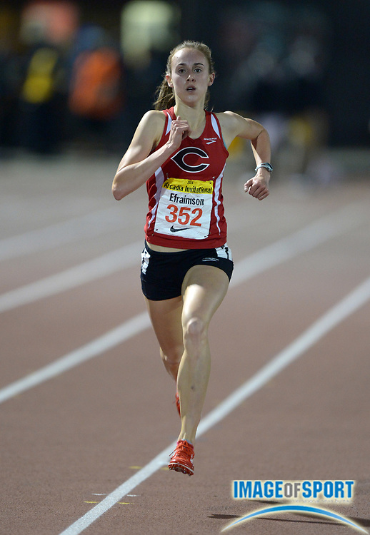Apr 12, 2014; Arcadia, CA, USA; Alexa Efraimson of Camas (Wash) wins the girls 3,200m in 9:55.92 in the 47th Arcadia Invitational at Arcadia High.
