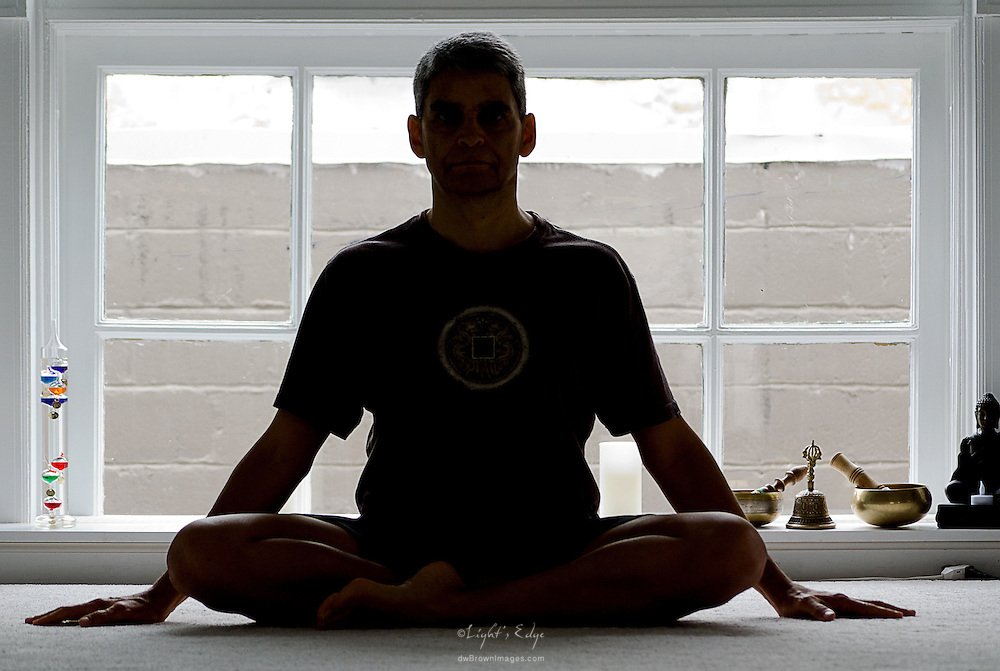 Eric Marrero (Yoga Inspired) providing a yoga postion for Pitman EDC marketing campaign.