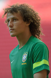 14.06.2013,Mane Garrincha National Stadium Brasilia, BRA, FIFA Confed Cup, Brasilien Training, im Bild // David Luiz during the FIFA Confederations Cup Training of Team Brazil at the Mane Garrincha National Stadium Brasilia, Brazil on <br /> 2013/06/14. EXPA Pictures © 2013, PhotoCredit: EXPA/ Marcelo Machado