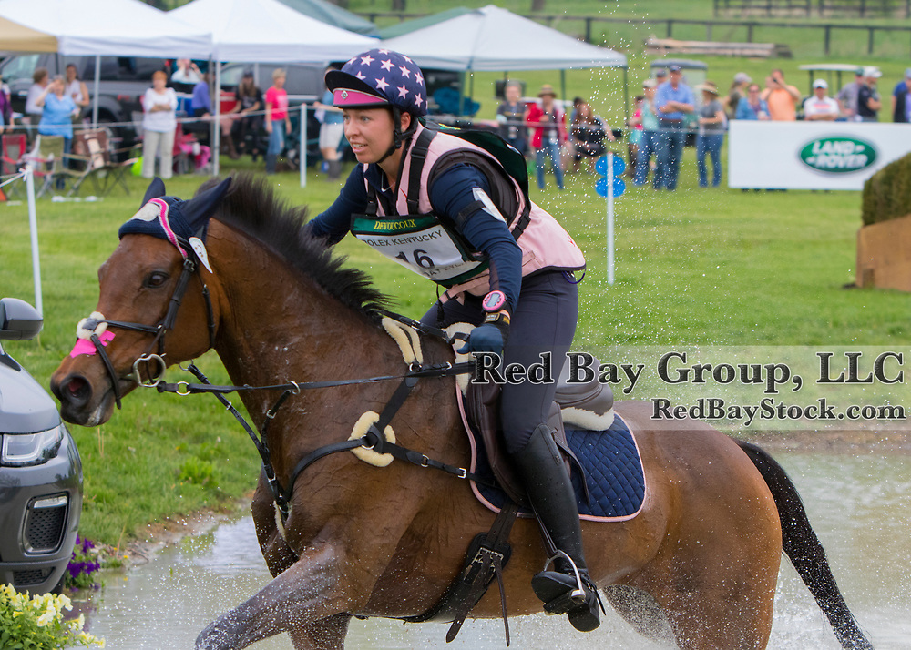 Madeline Backus (USA) rides P S Arianna during the cross country phase of the 2017 Rolex Kentucky Three Day Event, Presented by Land Rover.<br />