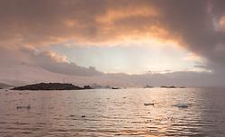 Port Lockrey at sunset, Antarctica