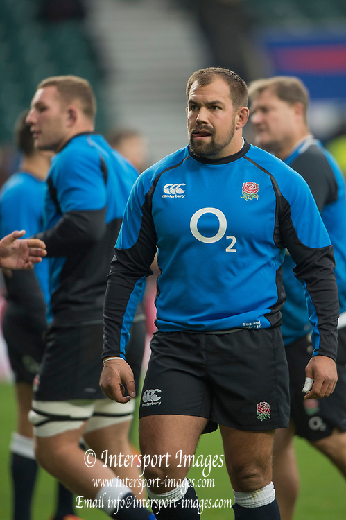 Twickenham, United Kingdom, Saturday, 24th  November 2018, RFU, Rugby, Stadium, England, Pre game Warm up, Ben MOON, Quilter Autumn International, England vs Australia, © Peter Spurrier