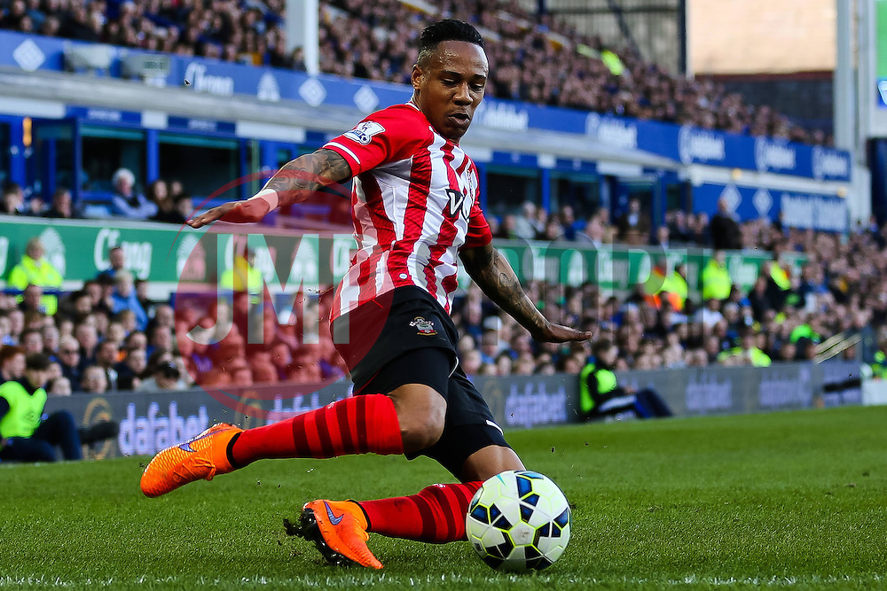 Southampton's Nathaniel Clyne crosses the ball  - Photo mandatory by-line: Matt McNulty/JMP - Mobile: 07966 386802 - 04/04/2015 - SPORT - Football - Liverpool - Goodison Park - Everton v Southampton - Barclays Premier League