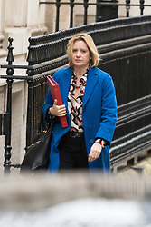 Downing Street, London, February 9th 2016.  Environment Minister Amber Rudd arrives in Downing Street for the weekly cabinet meeting. ///FOR LICENCING CONTACT: paul@pauldaveycreative.co.uk TEL:+44 (0) 7966 016 296 or +44 (0) 20 8969 6875. ©2015 Paul R Davey. All rights reserved.
