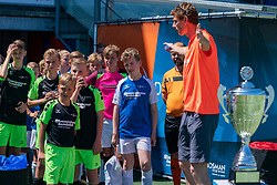29-06-2019 NED: DiabetesCup NK Voetbal 2019, Zwolle<br /> Today 12 provinces in tropical Zwolle competed for the DiabetesCup. There was fighting, laughter, sweating, clapping and cheering, and after an exciting group stage and cross-finals, the teams from North Holland and North Brabant finally competed against each other in the final that the North Hollanders managed to win. Congratulations champions!