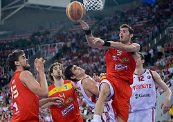 Rudy Fernandez of Spain during the EuroBasket 2009 Group F match between Spain and Turkey, on September 12, 2009 in Arena Lodz, Hala Sportowa, Lodz, Poland.  (Photo by Vid Ponikvar / Sportida)