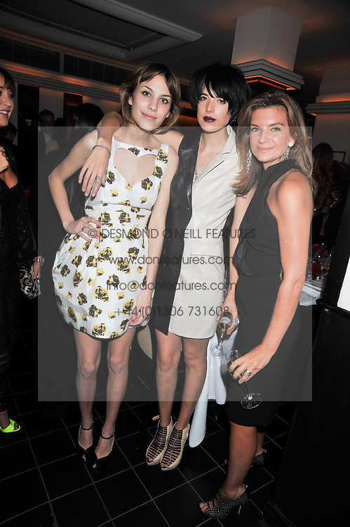 Left to right, ALEXA CHUNG, AGYNESS DEYN and NATALIE MASSENET at a dinner hosted by Alexandra Shulman editor of British Vogue in association with Net-A-Porter.com to celebrate 25 years of London Fashion Week and Nick Knight held at Le Caprice, Arlington Street, London on 21st September 2009.