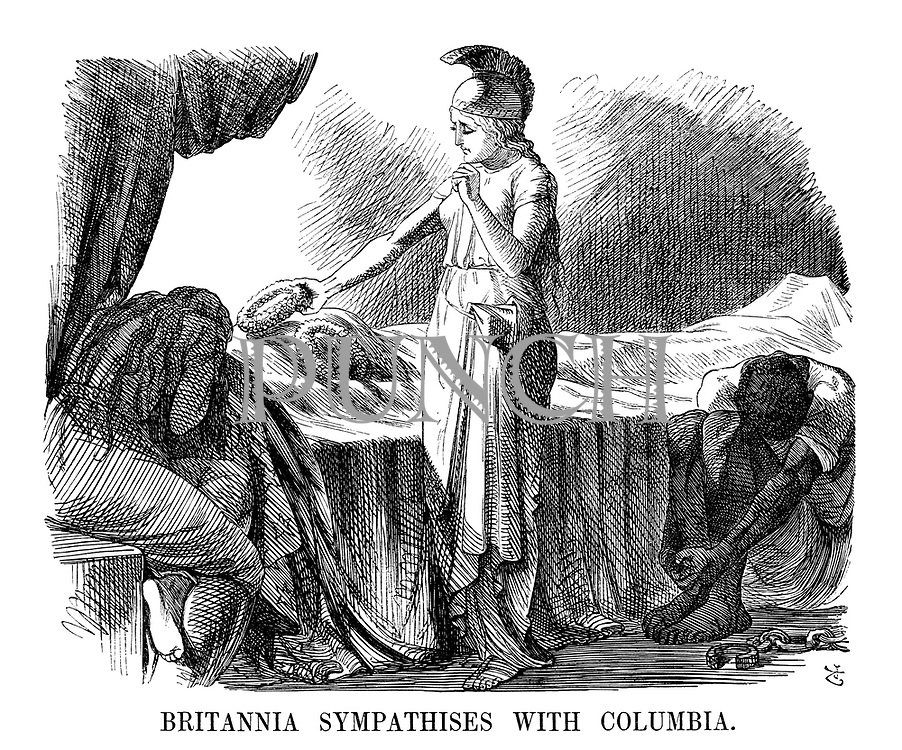 Britannia Sympathises With Columbia.