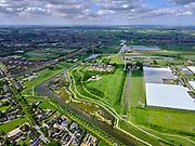 Nederland, Zuid-Holland, Lansingerland; 14–05-2020; Groenblauwe Slinger,ecologische verbindingszone,  ter hoogte van buurtschap Noordeinde (tussen Bleiswijk en Pijnacker). Links aan de horizon Berkel en Rodenrijs.<br /> 'Green and blue garland', ecological connection zone, near the hamlet of Noordeinde (between Bleiswijk and Pijnacker). Left on the horizon Berkel and Rodenrijs.<br /> <br /> luchtfoto (toeslag op standaard tarieven);<br /> aerial photo (additional fee required)<br /> copyright © 2020 foto/photo Siebe Swart