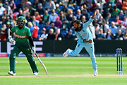Adil Rashid of England bowling during the ICC Cricket World Cup 2019 match between England and Bangladesh the Cardiff Wales Stadium at Sophia Gardens, Cardiff, Wales on 8 June 2019.