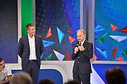 Alessandro Mammoli, Gianni Petrucci<br /> Raduno Nazionale Maschile Senior<br /> Media Day - Sky <br /> Milano 21/07/2017<br /> Foto Ciamillo-Castoria/ M,Longo