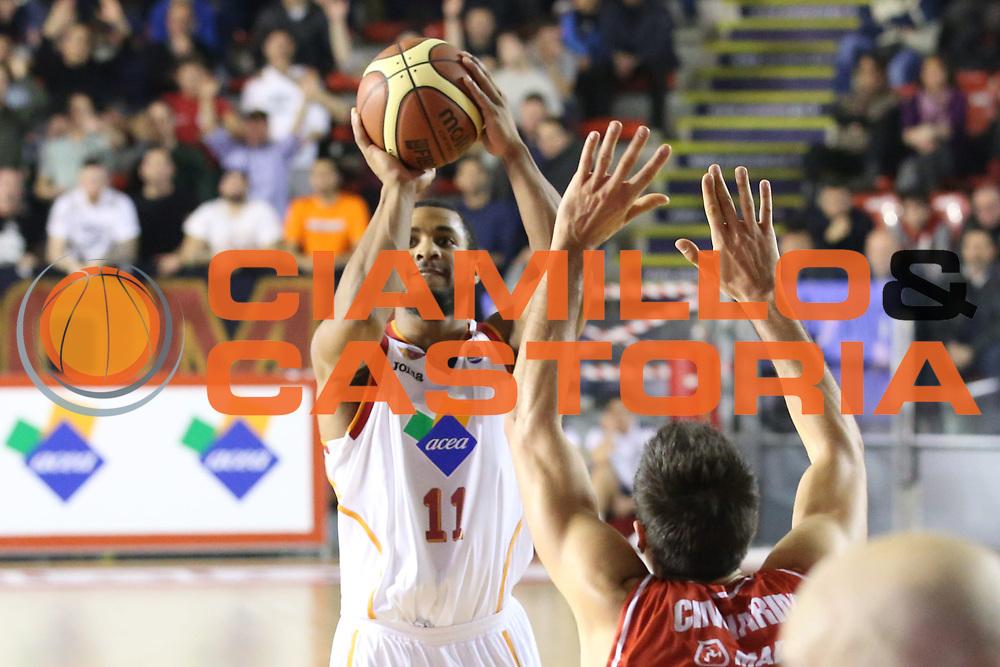 DESCRIZIONE : Roma Campionato Lega A 2013-14 Acea Virtus Roma Grissin Bon Reggio Emilia <br /> GIOCATORE :  Taylor Jordan<br /> CATEGORIA : three points<br /> SQUADRA : Acea Virtus Roma<br /> EVENTO : Campionato Lega A 2013-2014<br /> GARA : Acea Virtus Roma Grissin Bon Reggio Emilia <br /> DATA : 22/12/2013<br /> SPORT : Pallacanestro<br /> AUTORE : Agenzia Ciamillo-Castoria/M.Simoni<br /> Galleria : Lega Basket A 2013-2014<br /> Fotonotizia : Roma Campionato Lega A 2013-14 Acea Virtus Roma Grissin Bon Reggio Emilia <br /> Predefinita :