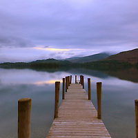 Jetty at twilight in the Lake District