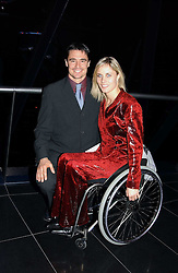 Leading swiss disabled athlete EDITH HUNKELER and MR MARK WOLF at a reception and buffet-dinner hosted by H.E.Alexis P.Lautenberg, Ambassador of Switzerland to celebrate British-Swiss friendship and the forthcoming 'UN International Year of Sport and Physical Education 2005' at 40 St.Mary Axe (The Gherkin) London EC3 on 13th December 2004.<br /><br />NON EXCLUSIVE - WORLD RIGHTS
