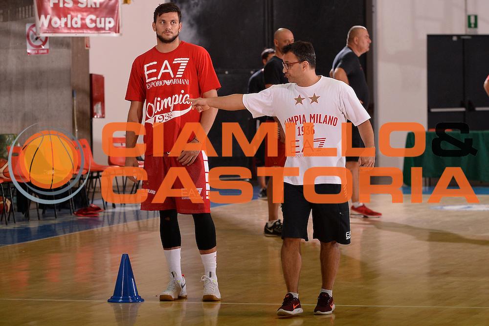 Giustino Danesi <br /> EA7 Emporio Armani Olimpia Milano allenamento<br /> Lega Basket Serie A 2016/2017<br /> Bormio 03/09/2016<br /> Foto Ciamillo-Castoria
