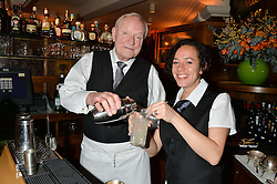 JULIAN GLOVER and ALICYA EYO at One Night Only at The Ivy in aid of Acting For Others supported by Tanqueray No.TEN Gin at The Ivy, 1-5 West Street, London on 1st December 2013.