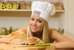 Repro Free: 21/02/2013.Pictured here at the launch of Bfree Pop Up Nutritional Advisory Centre is former Miss World and a student of nutritional therapy, Rosanna  Davison sampling the delicious Bfree healthy bread range. Backed by the Coeliac Society of Ireland, the Pop up offers free mini consultations with qualified nutritionists from the Nutritional Therapist Organisation of Ireland about the next steps in creating a balanced, healthy lifestyle as well as identifying food intolerances. Picture Andres Poveda ...For further press information, images and interviews, please contact Claire Buckley or Niki Kelly, Elevate PR on 01 662 56 52 or email claireb@elevate.ie  or niki@elevate.ie