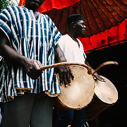 Yam Festival Traditional Drums by Antoinette Dumegah