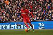 Liverpool midfielder Roberto Firmino  during the Barclays Premier League match between Liverpool and Sunderland at Anfield, Liverpool, England on 6 February 2016. Photo by Simon Davies.