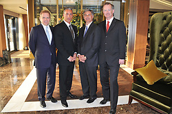 Left to right, SIMON VINCENT Area Manager  Europe Hilton Worldwide, ANDREAS PANAYIOTOU, CHRIS NASSETTA CEO Hilton Worldwide and JOHN PENROSE MP Minister of Tourism at the opening party of the London Syon Park - A Waldorf Astoria Hotel, Syon Park, Middlesex on 19th May 2011.