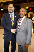 l to r: NAACP National President Ben Jealous and Rev. Al Sharpton at The Pre-Reception for The 100th NAACP Annual Conference hosted by Governor David Patterson w/special performance by Ryan Leslie held at the Great Hall at City College of New York in New York City on July 12, 2009