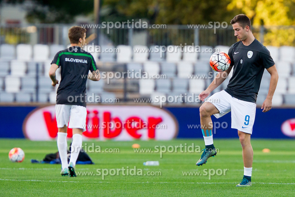 Andraz Sporar of Slovenia before football match between U21 National Teams of Slovenia and Italy in 4th Round of UEFA 2017 European Under-21 Championship Qualification on October 8, 2015 in stadium Bonifika, Koper / Capodistria, Slovenia. Photo by Urban Urbanc / Sportida