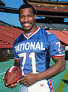 The National Football Conference Washington Redskins defensive end Charles Mann (71) poses for a photo during photo day the week before the 1989 NFL Pro Bowl football game against the American Football Conference on Jan. 24, 1989 in Honolulu. The NFC won the game 34-3. (©Paul Anthony Spinelli)