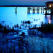Blue hour on the water in Jekyll Island, GA