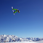 Joris Nudeken, The Netherlands, in action during the Snowboard Slopestyle Men's competition at Snow Park, New Zealand during the Winter Games. Wanaka, New Zealand, 21st August 2011. Photo Tim Clayton