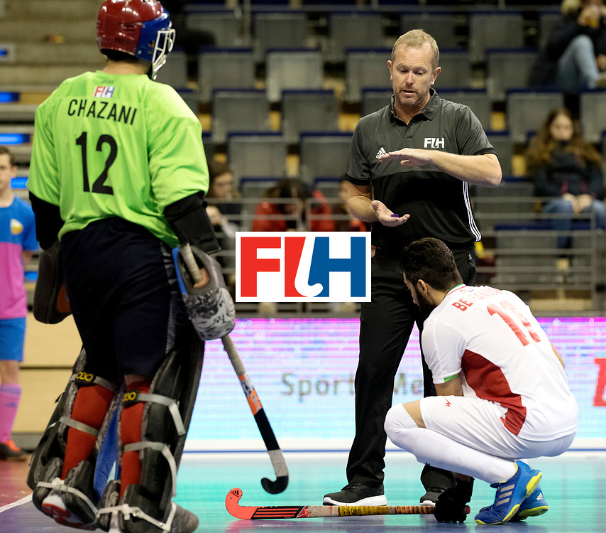 BERLIN - Indoor Hockey World Cup<br /> Men: Iran - Austria<br /> foto: Barry Adam.<br /> WORLDSPORTPICS COPYRIGHT FRANK UIJLENBROEK