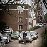 NLD/Fijnaart/20150110 - Uitvaart Chris Bauer, aankomst rouwstoet