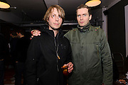 Photos of Orri Páll Dýrason and Jonsi of Icelandic rock band Sigur Ros at the Reyka vodka party at KEX hostel in Reykjavik for Iceland Airwaves music festival. October 14, 2011. Copyright © 2011 Matthew Eisman. All Rights Reserved.