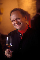 ..Chef Joel Robuchon at a wine tasting, 1999