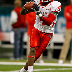 November 10, 2011; New Orleans, LA, USA;  Houston Cougars wide receiver Ronnie Williams (4) against the Tulane Green Wave at the Mercedes-Benz Superdome.  Mandatory Credit: Derick E. Hingle-US PRESSWIRE