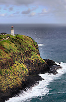 Perched on a bluff overlooking the vast Pacific Ocean, the Kilauea Lighthouse stands as a silent sentry.