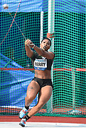 Gwen Berry (USA) places second in the women's hammer with a throw of 243-5 (74.21m) during the 57th Ostrava Golden Spike track and field meeting in a IAAF World Challenge event at Mestsky Stadium in Ostrava, Czech Republic, Wednesday, June 13, 2018. (Jiro Mochizuki/Image of Sport)