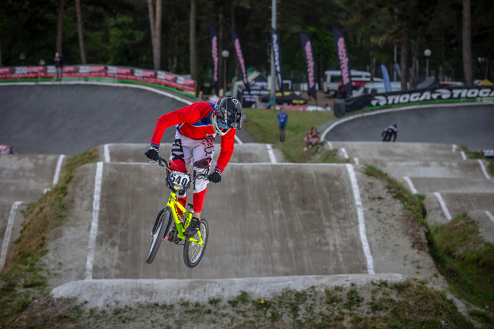#540 (GUZMAN MONTESINOS Raimundo) CHI during round 4 of the 2017 UCI BMX  Supercross World Cup in Zolder, Belgium.