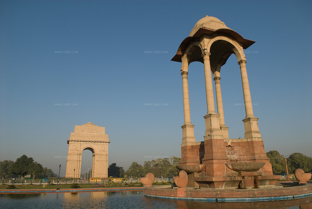 Situated on the Rajpath in New Delhi, India Gate (originally called the All India War Memorial) is a monument built by Edwin Lutyens to commemorate the Indian soldiers who died in World War I and the Afghan Wars.