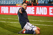 Millwall forward Lee Gregory (9) celebrates his goal during the The FA Cup fourth round match between Millwall and Everton at The Den, London, England on 26 January 2019.